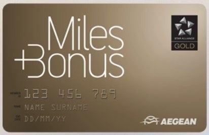 Aegean Miles + Bonus Gold Karte