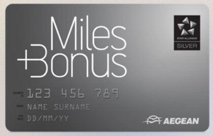 Aegean Miles + Bonus Silver Karte
