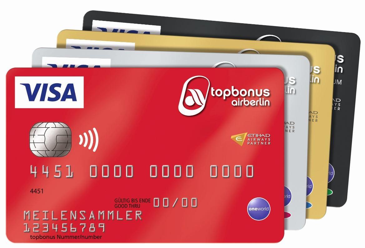 airberlin Visa Kreditkarte