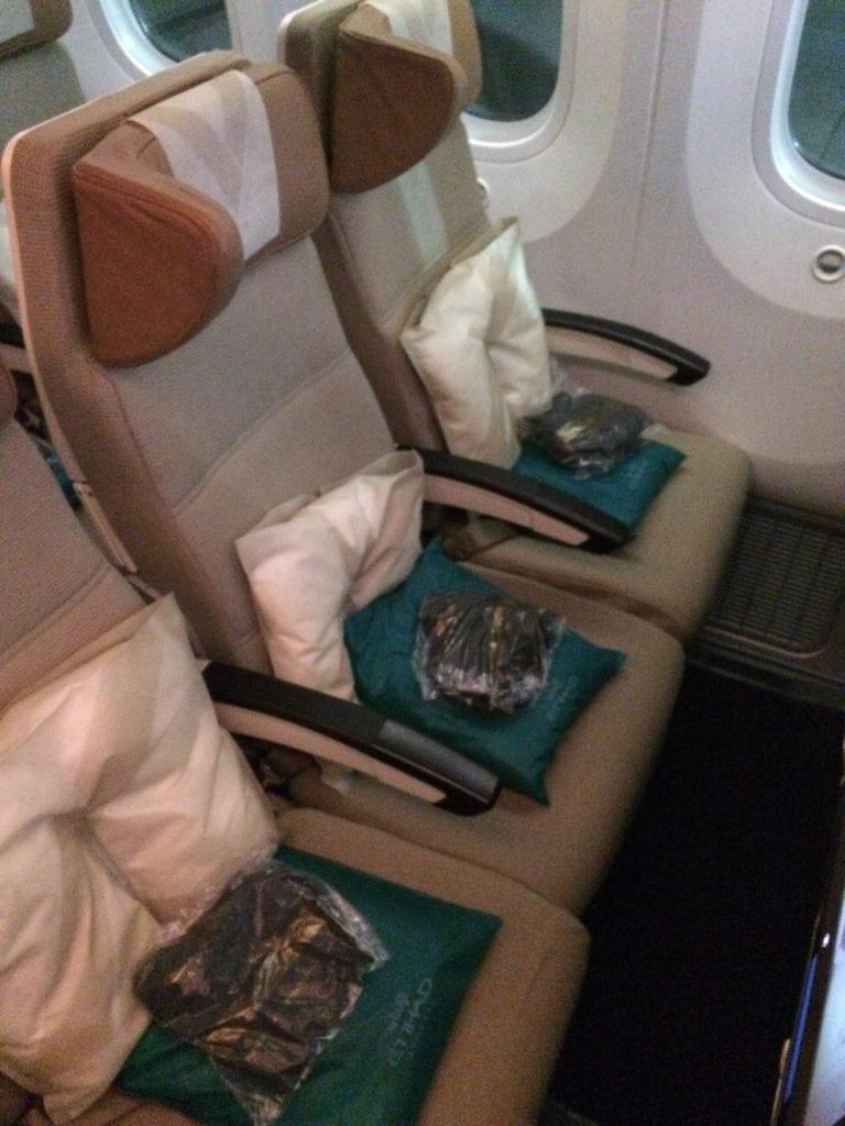 Etihad 787 Economy Class Sitz