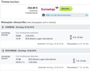 Eurowings nach Boston