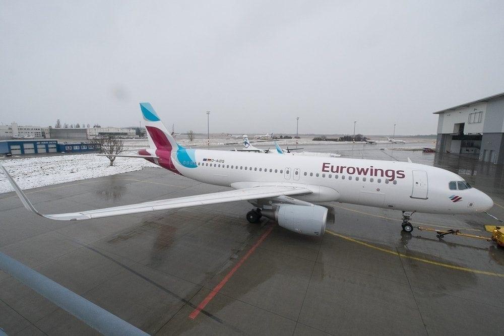 Eurowings A320 Flugzeug
