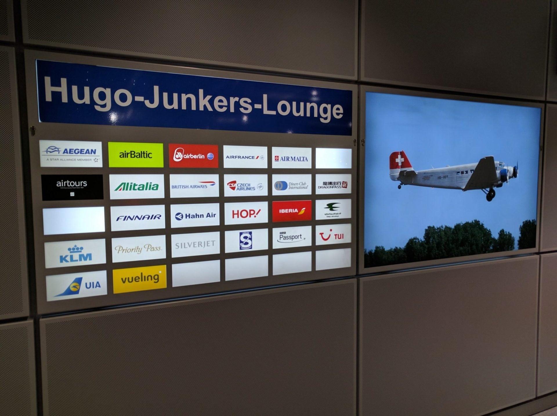 Hugo Junkers Lounge Düsseldorf Airlines