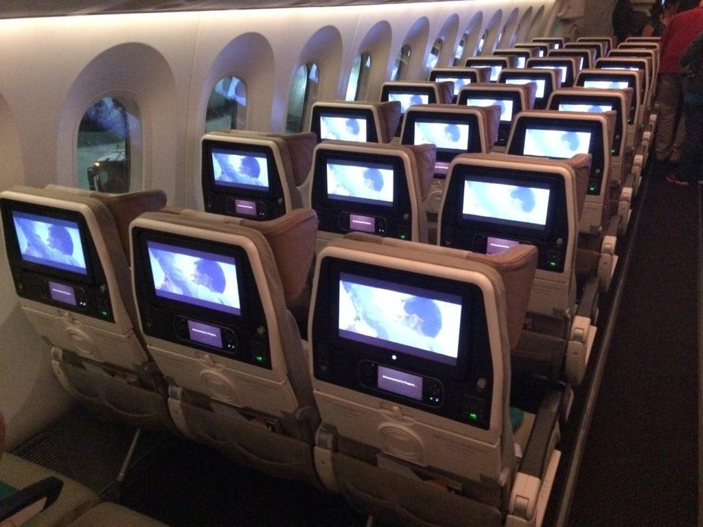 Die Etihad Economy Class in der Boeing 787