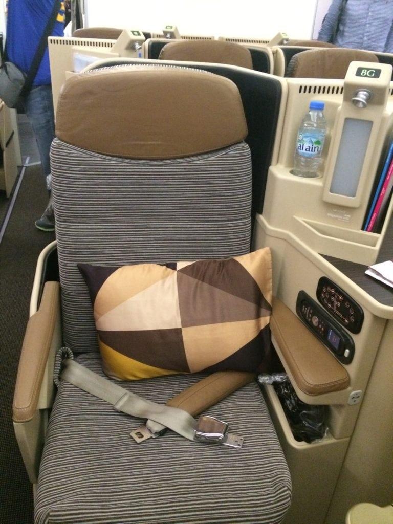 Die Etihad Business Class im Airbus A330
