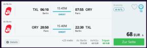 Mit Air Berlin nach Paris