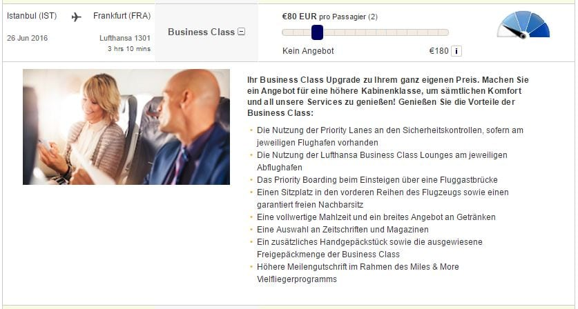 plusgrade upgrade lufthansa myoffer