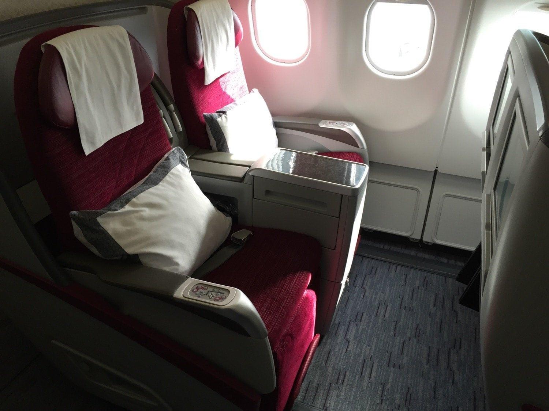 alte Business Class von Qatar Airways