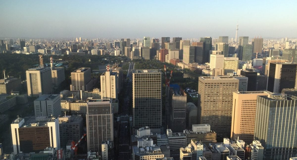 Tokio Blick Stadt