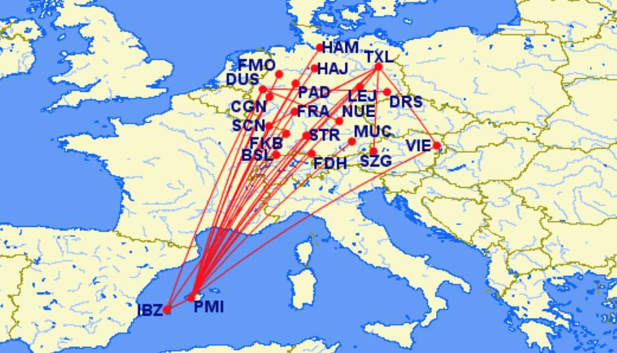 airberlin super sunday Mallorca und Ibiza