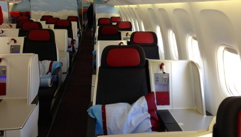 Austrian Business Class Langstrecke – 1