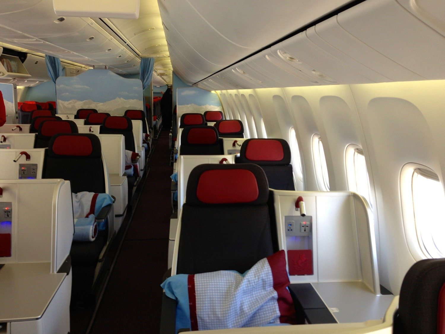 Business Class Kabine von Austrian Airlines