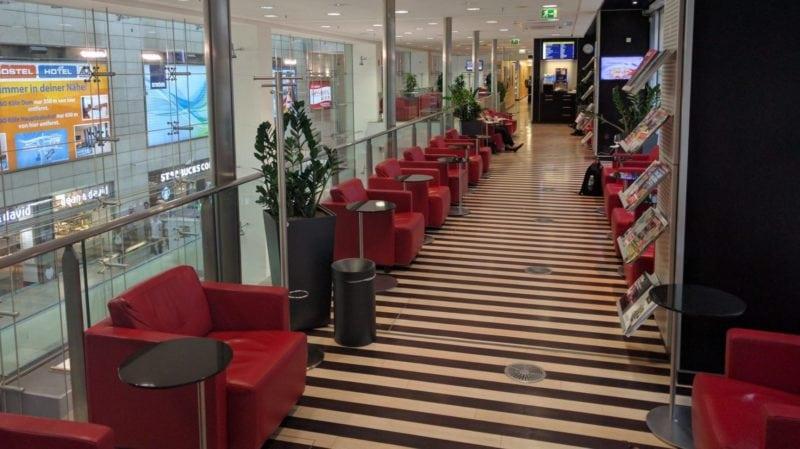 Der 1. Klasse Bereich in der DB Lounge Köln Hbf