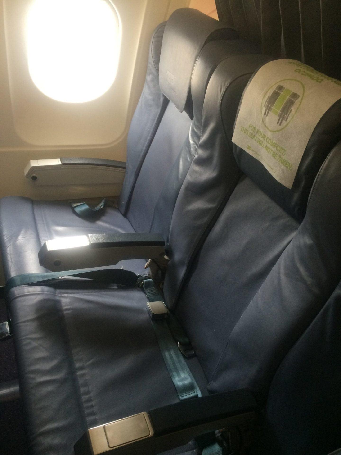 Tap Portugal Business Class Sitzreihe