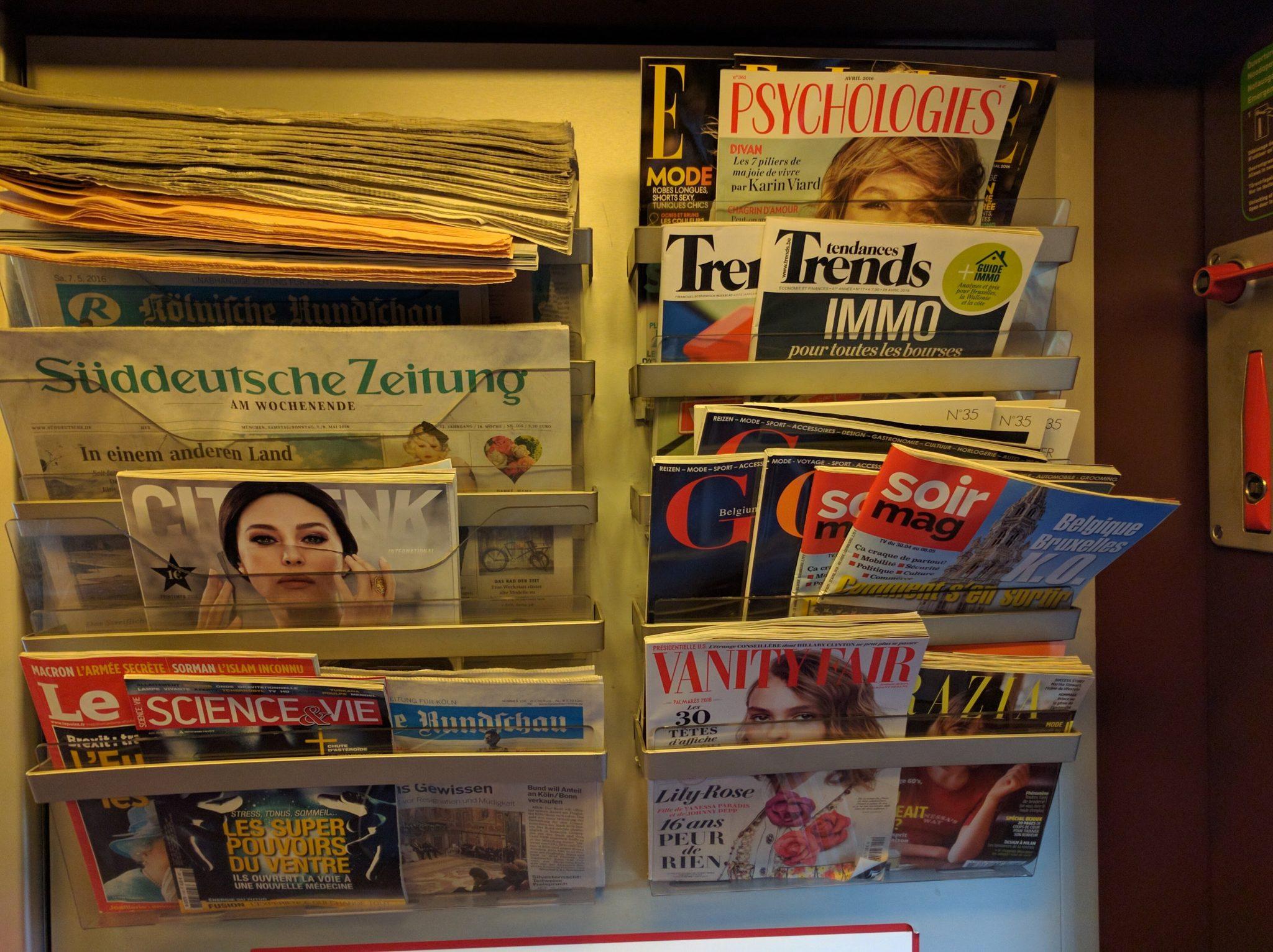 Thalys Comfort 1 Zeitungen