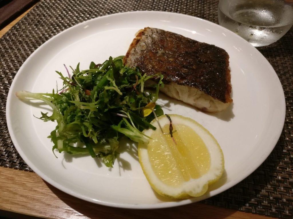 Qantas First Class Lounge Dinner