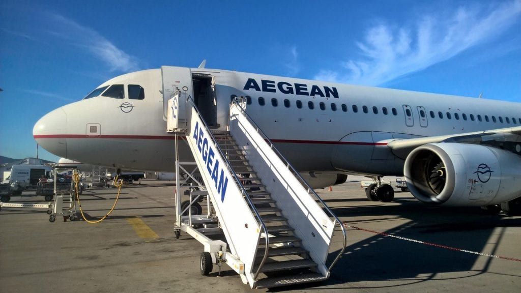 Aegean Airlines A320 Treppe