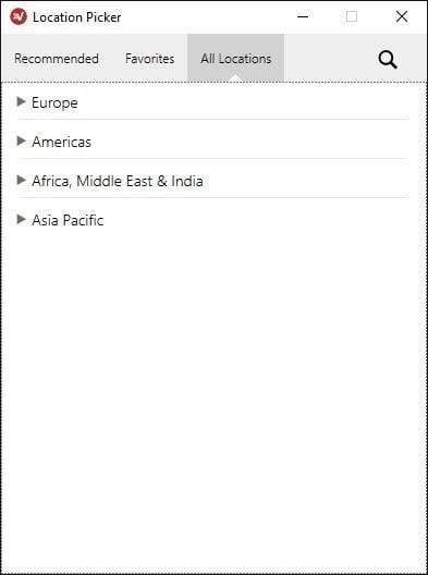 ExpressVPN Windows Location Picker 3