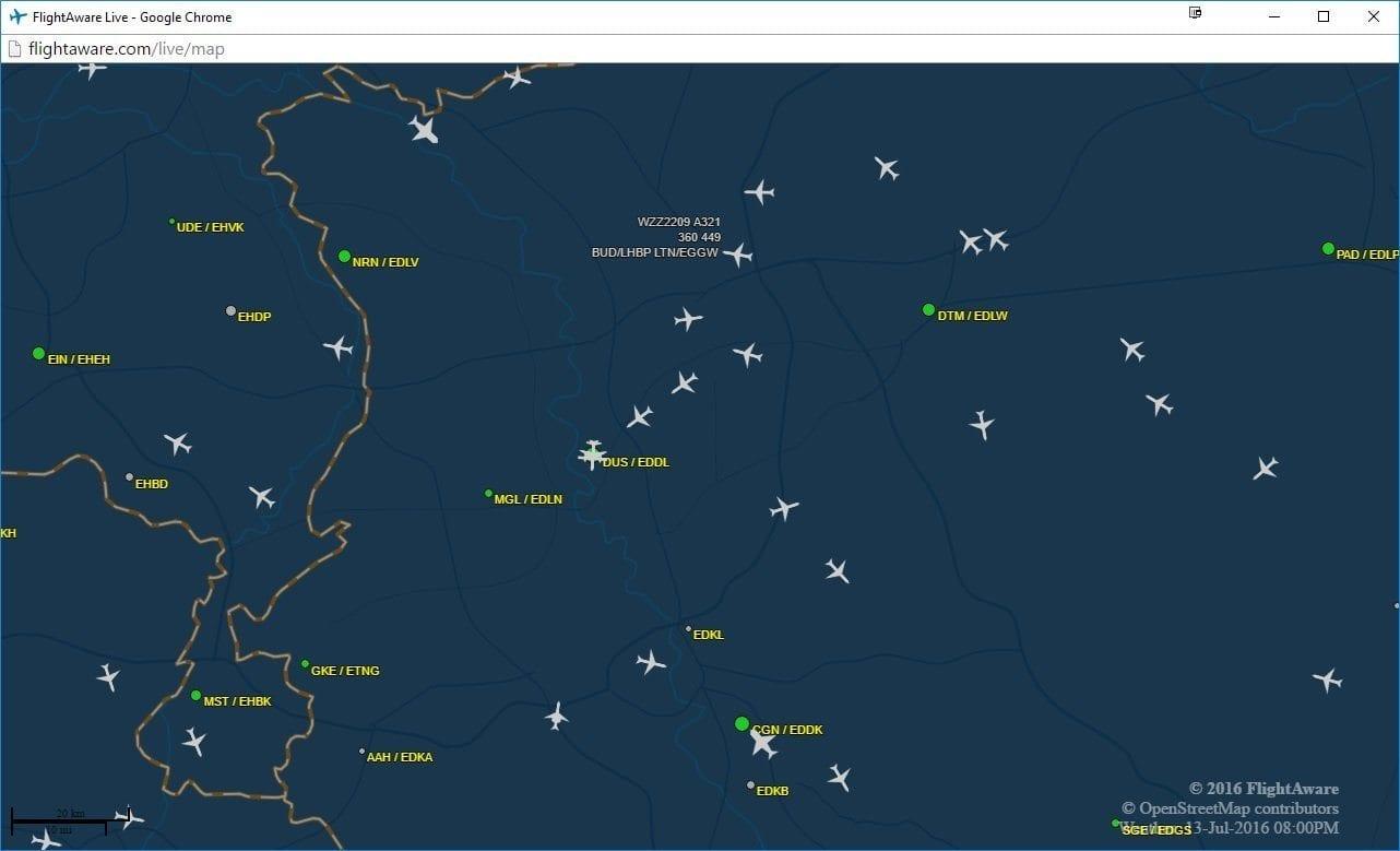 Flightaware Flugverfolgung