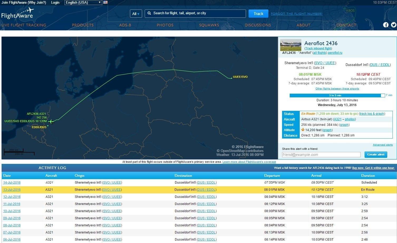Flightaware Fluginfo