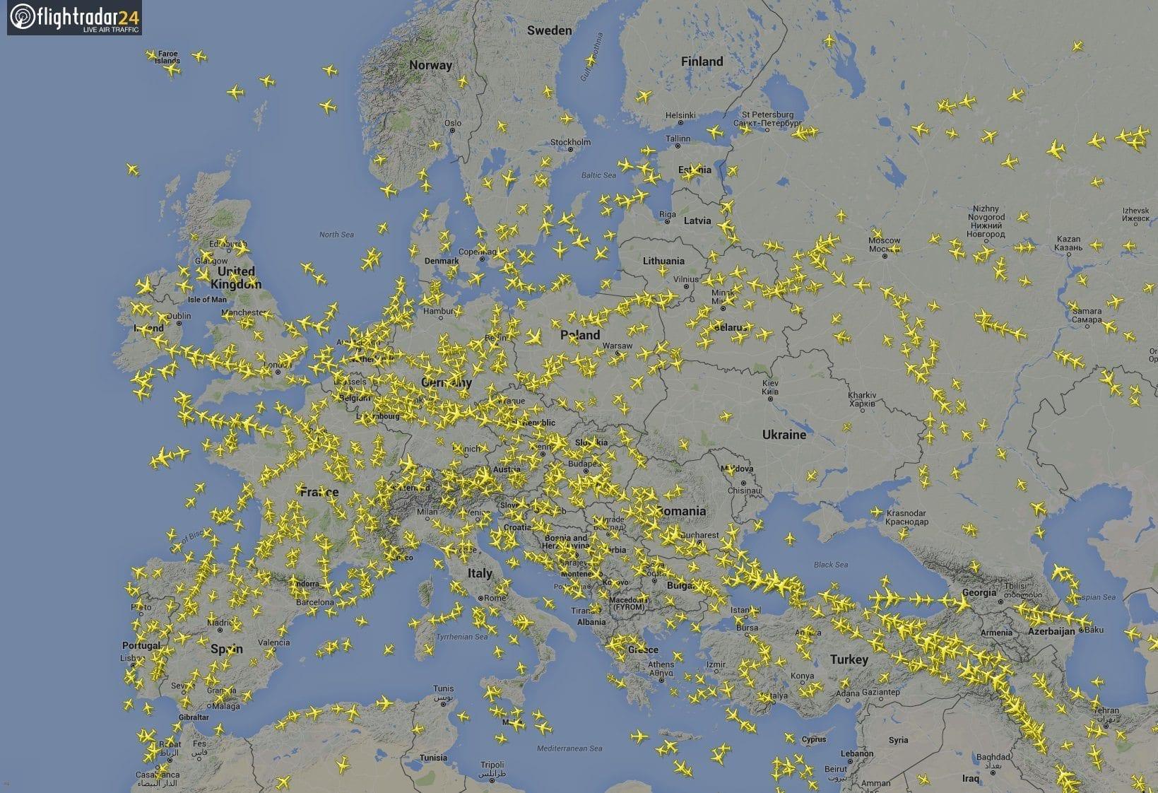 Flightradar24 Europa