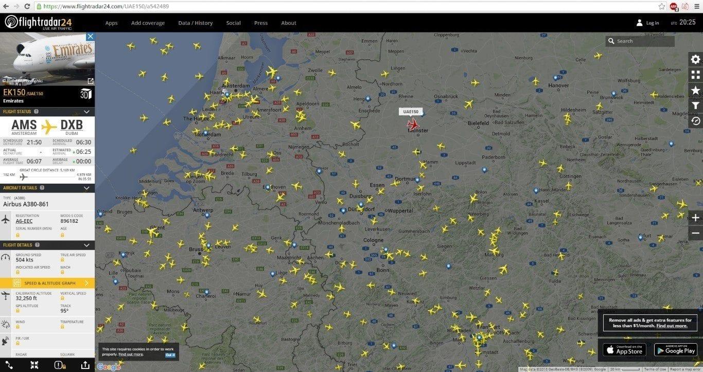 Flightradar24 Flugverkehr
