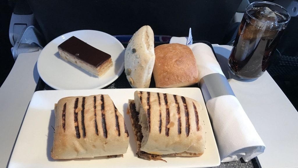 British Airways Business Class A320 Sandwich