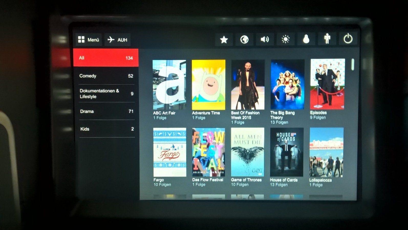 airberlin Business Class Entertainment