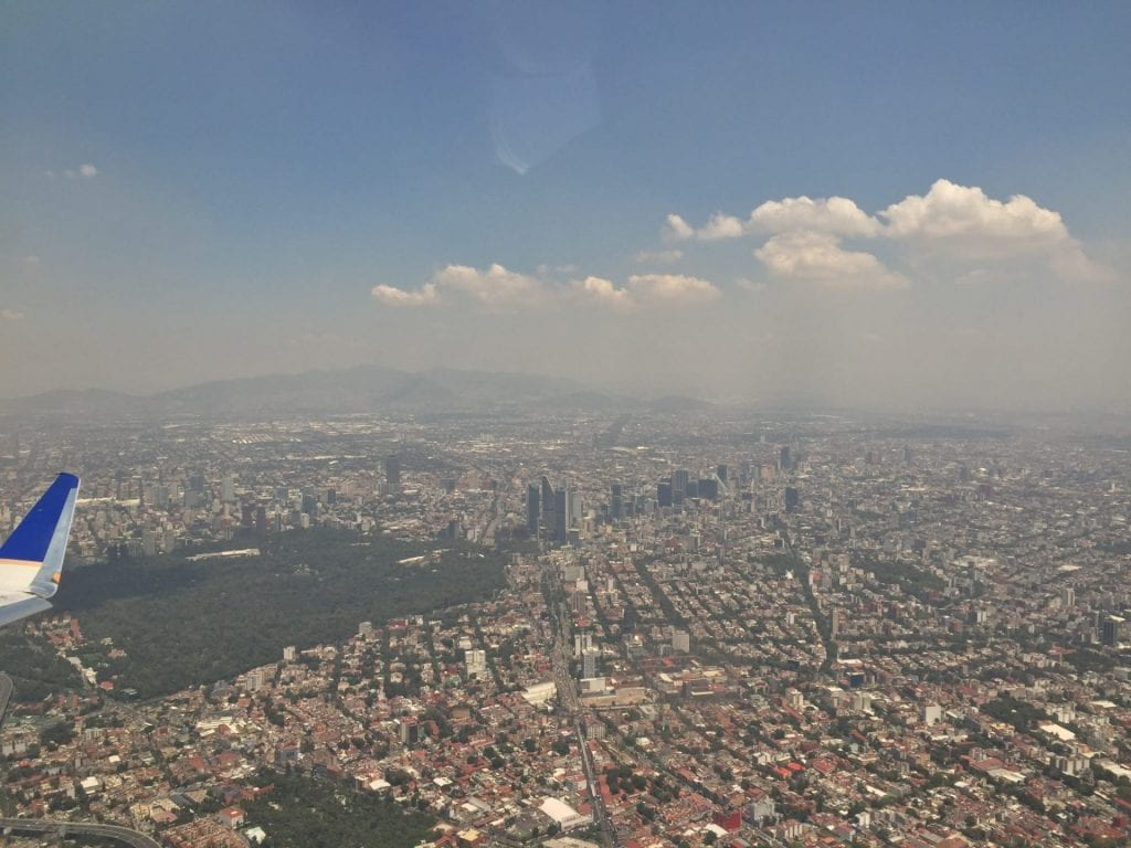 Landeanflug auf Mexiko City