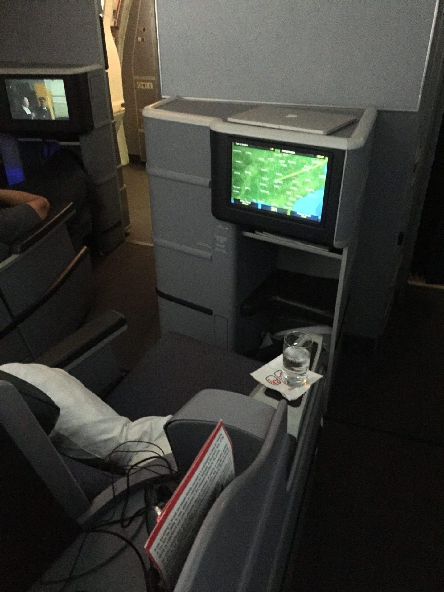 United Airlines Boeing 767 Mittelsitz