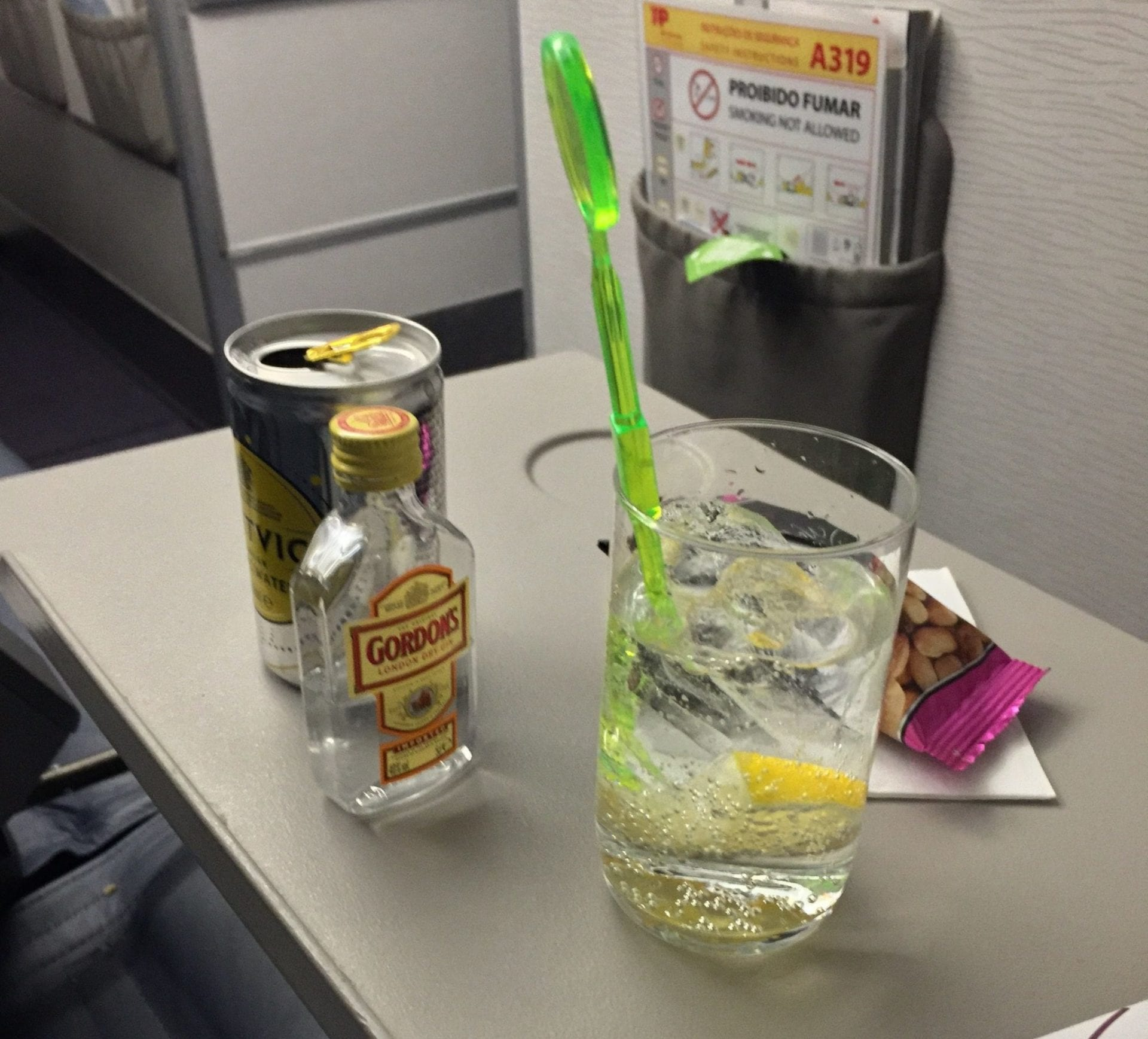 TAP Portugal A320 Business Class Drink