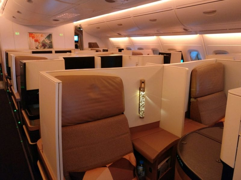 Etihad Airways Business Class Airbus A380