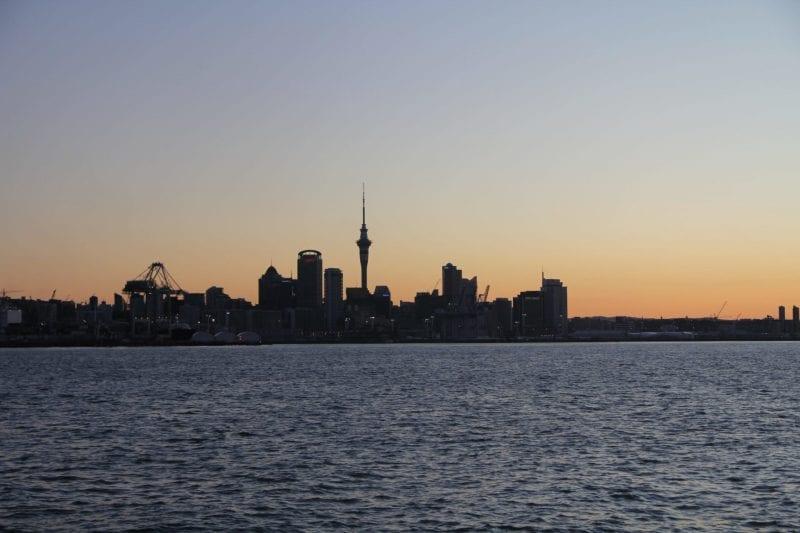 Auckland Sonnenuntergang