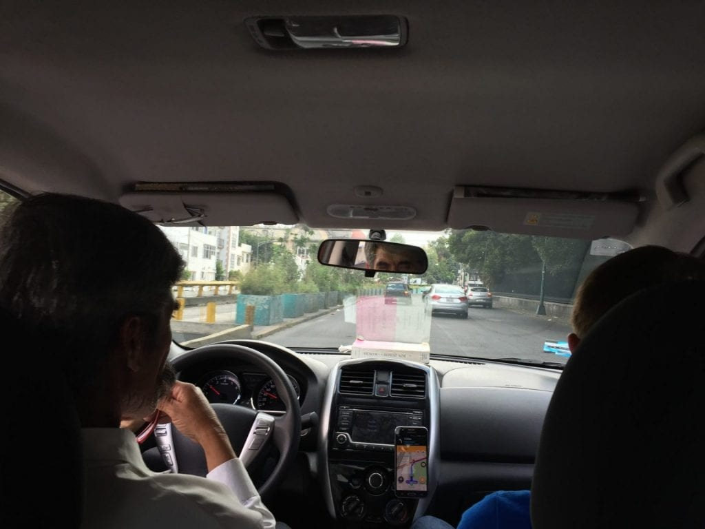 mexiko city uber fahrer