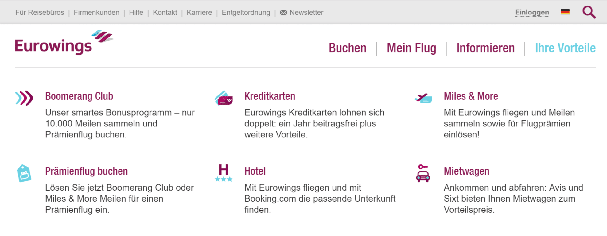 Eurowings Prämienflug buchen