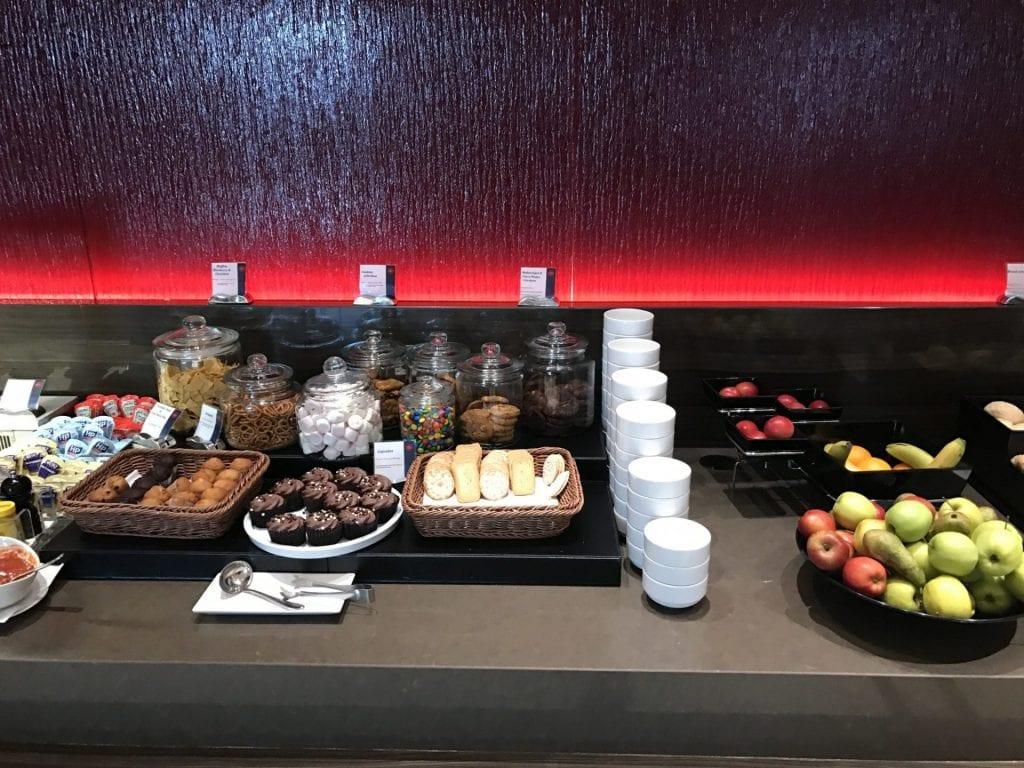 Air Canada Maple Leaf Lounge London Heathrow Buffet