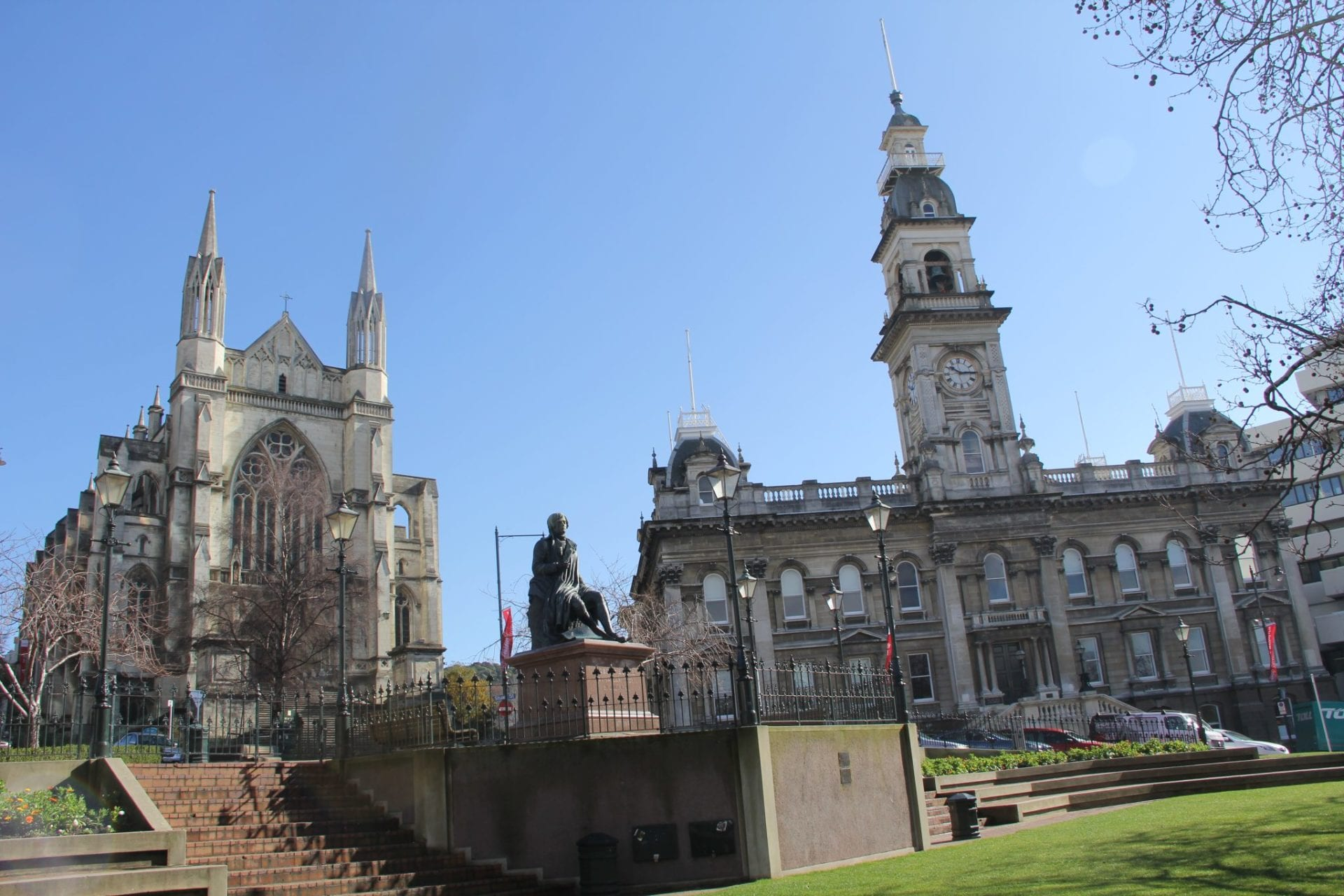 Dunedin Cathedral and Town Hall