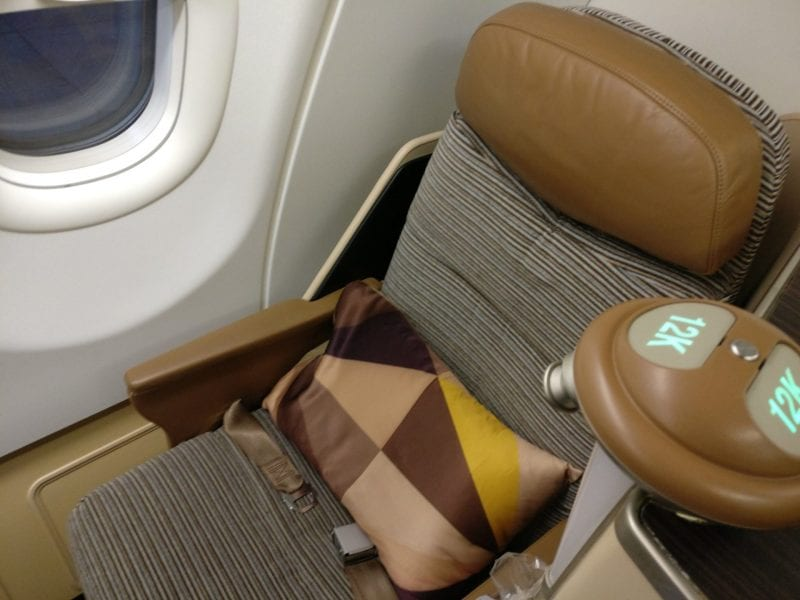 Etihad Airways Business Class Airbus A340-600 Sitz