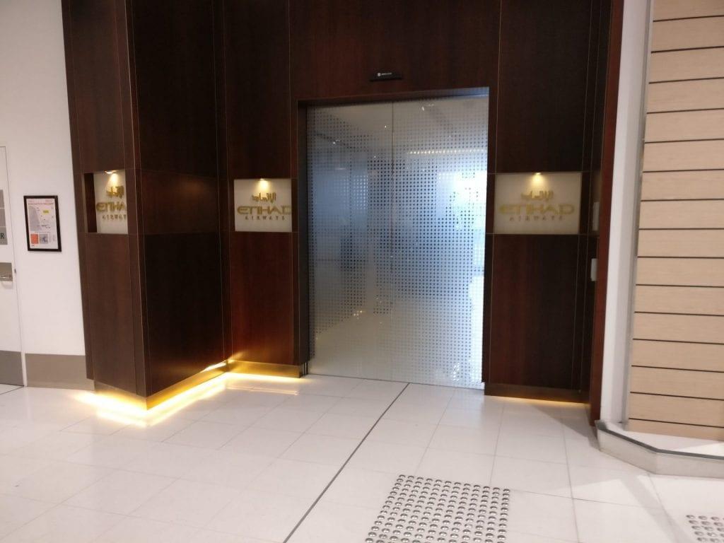 Etihad Lounge Sydney Eingang