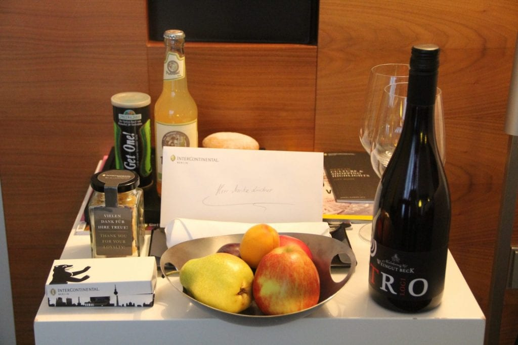 InterContinental Berlin Club Welcome Treatment