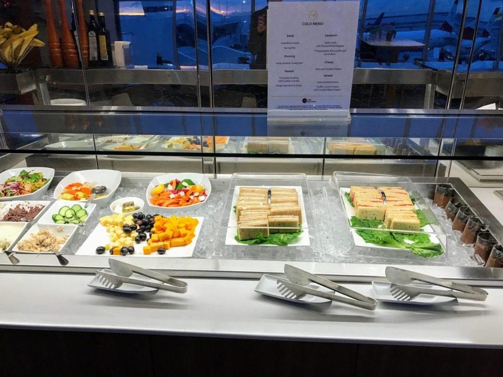 Lufthansa Senator Lounge Buffet
