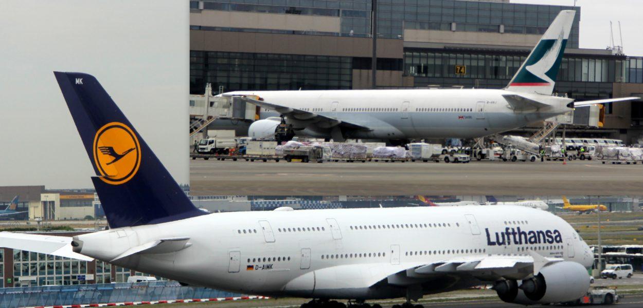Lufthansa und Cathay Pacific