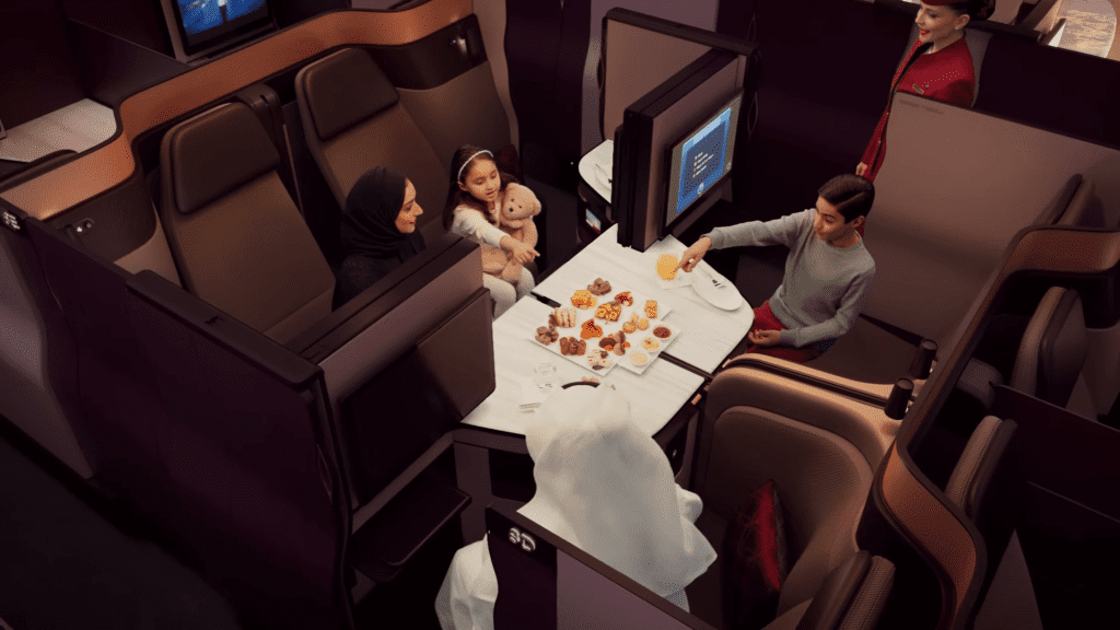 Qatar Business Class QSuite Family
