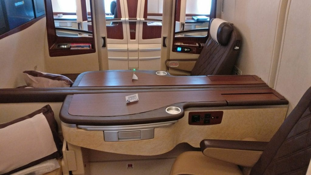 singapore airlines airbus a380 first suites class kabine 2
