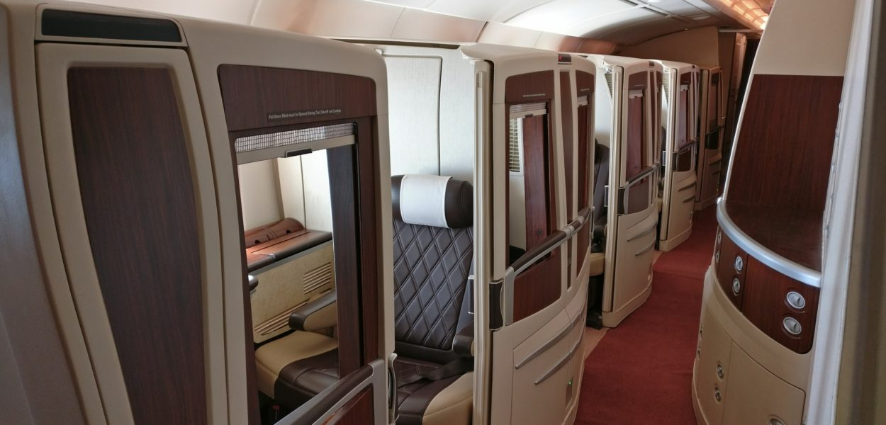 singapore airlines airbus a380 first suites class kabine 6