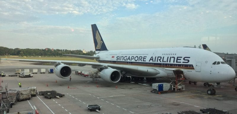 singapore airlines airbus a380 gate SIN