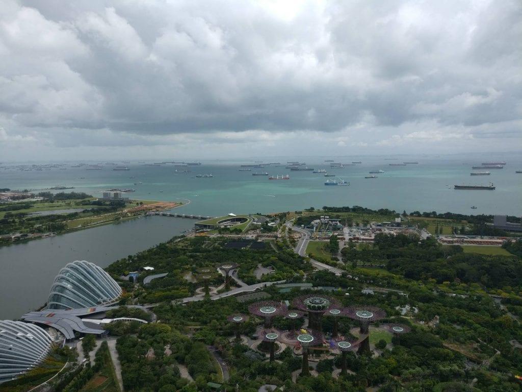 singapur marina bay sands bar skydeck 4 aussicht