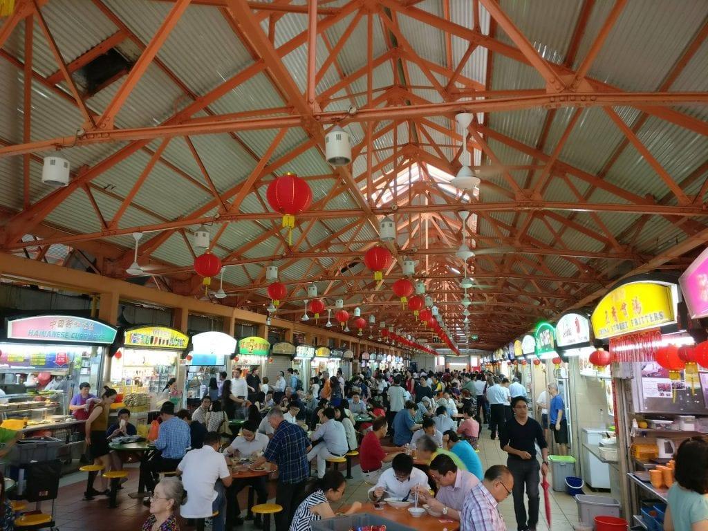singapur maxwell food court essen 1