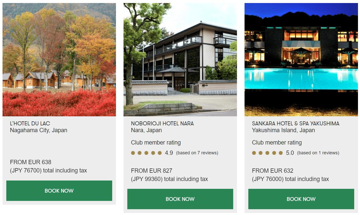 Slh preise japan 2 for Slh hotels deutschland