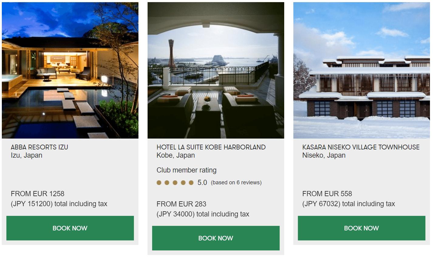 Slh preise japan for Slh hotels deutschland